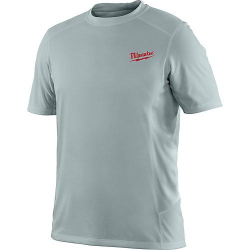 Men's 2X-Large Work Skin Gray Light Weight Performance Shirt