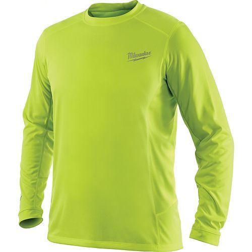 Chandail à manches longues léger haute performance Workskin pour hommes, 3TG, jaune haute visibilité