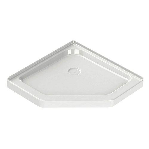 Corner Neo-Angle Base 40-inch x 40-inch x 3-inch Centre Drain in White
