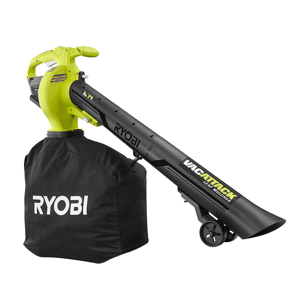 RYOBI 40V Lithium-Ion Cordless Battery Leaf Vacuum/Mulcher (Tool Only)
