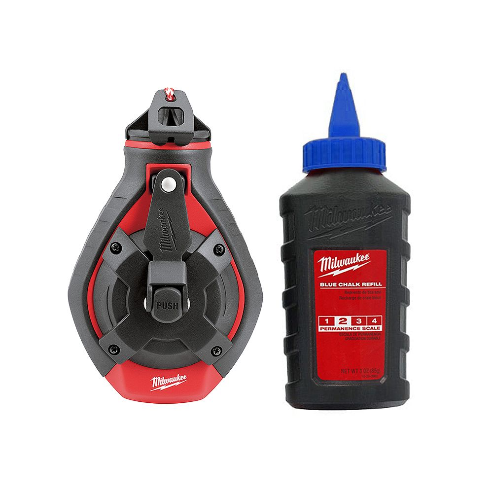 Milwaukee Tool 100 ft. Bold Line Chalk Reel Kit with Blue Chalk