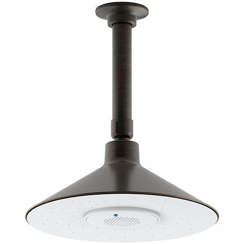 KOHLER Rainhead 2,5 gpm avec haut-parleur sans fil en bronze huilé