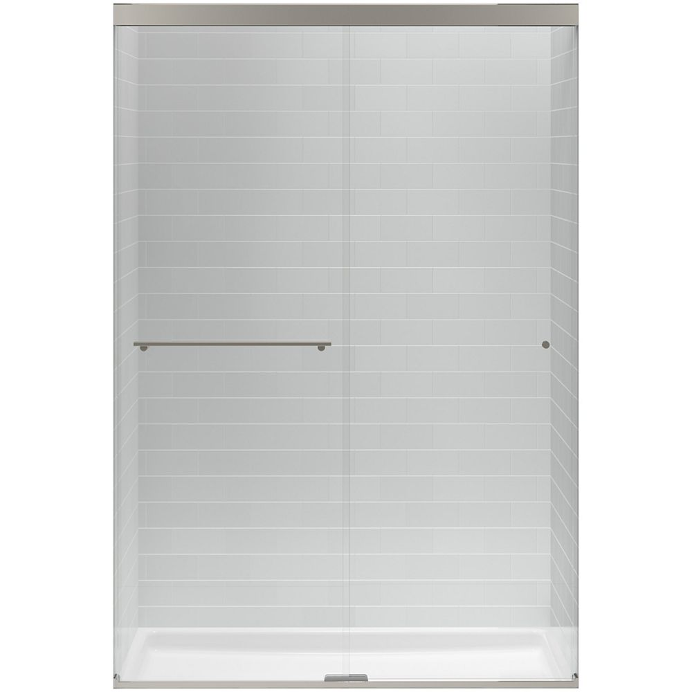 """KOHLER Sliding shower door, 70""""H x 44-5/8 - 47-5/8""""W, with 1/4"""" thick Crystal Clear glass"""