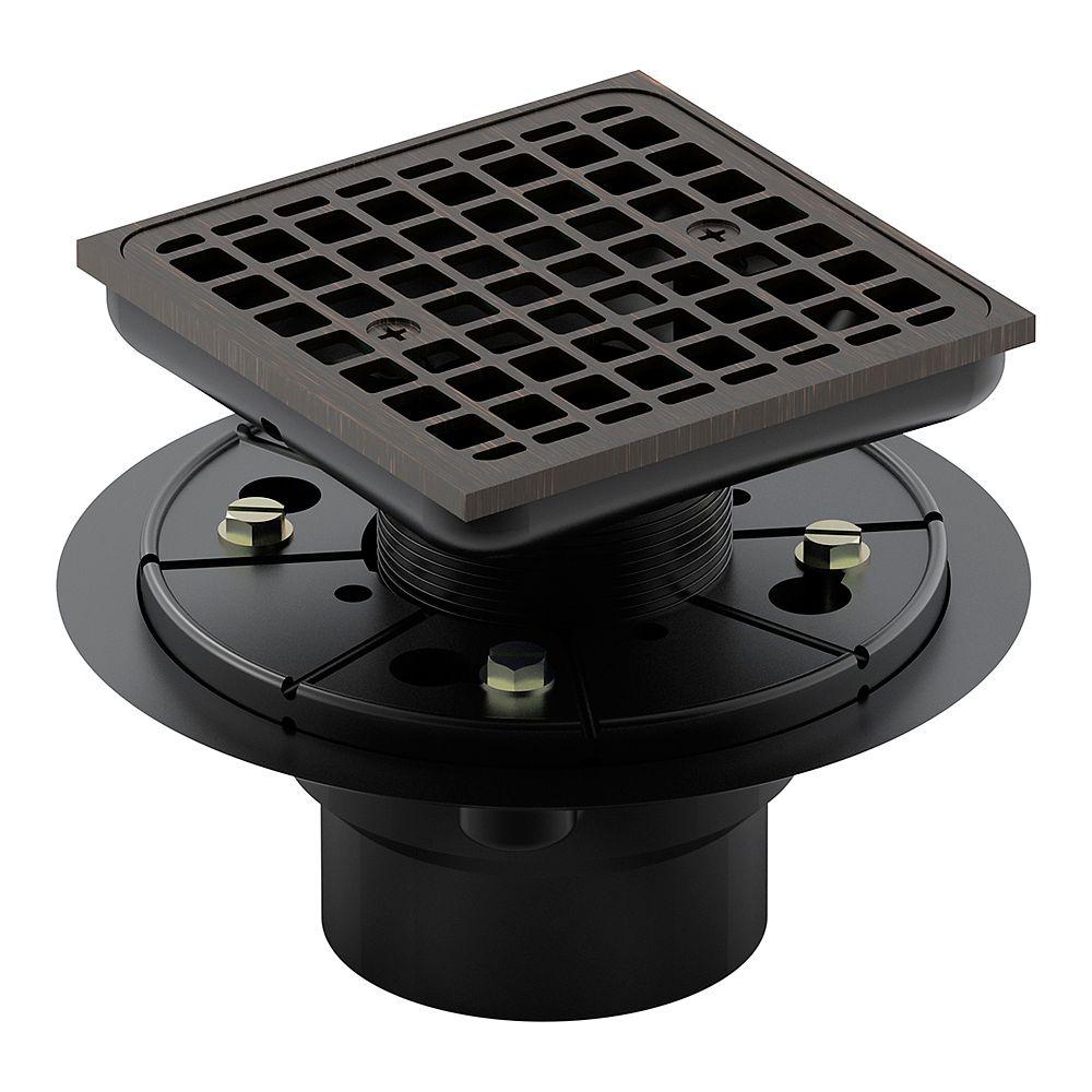 KOHLER Square design tile-in shower drain in Oil-Rubbed Bronze