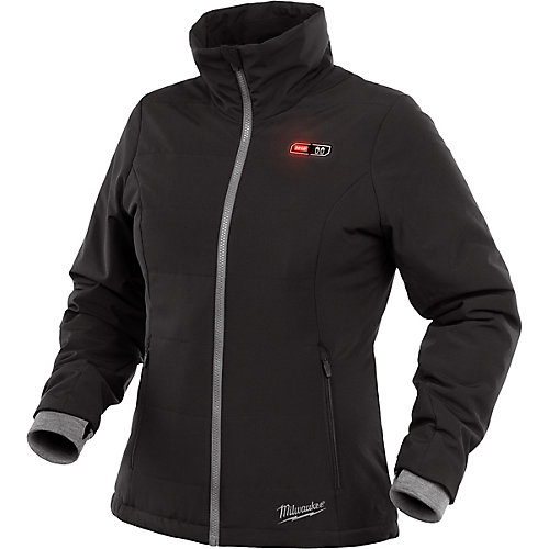 Women's Medium M12 12V Lithium-Ion Cordless Black Heated Jacket (Jacket Only)