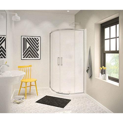 Radia 32-inch x 32-inch x 72-inch Framed Neo-Round Sliding Shower Door in Chrome Mistelite