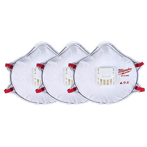 Appareil respiratoire professionnel polyvalent à valeur ajoutée avec joint d'étanchéité (paquet de 3)
