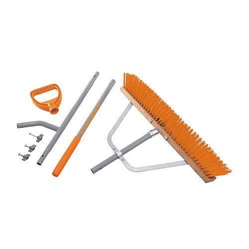 Steel Shaft Strain Reducing Indoor/Outdoor Push Broom  56-Inch Shaft  24-Inch Broom