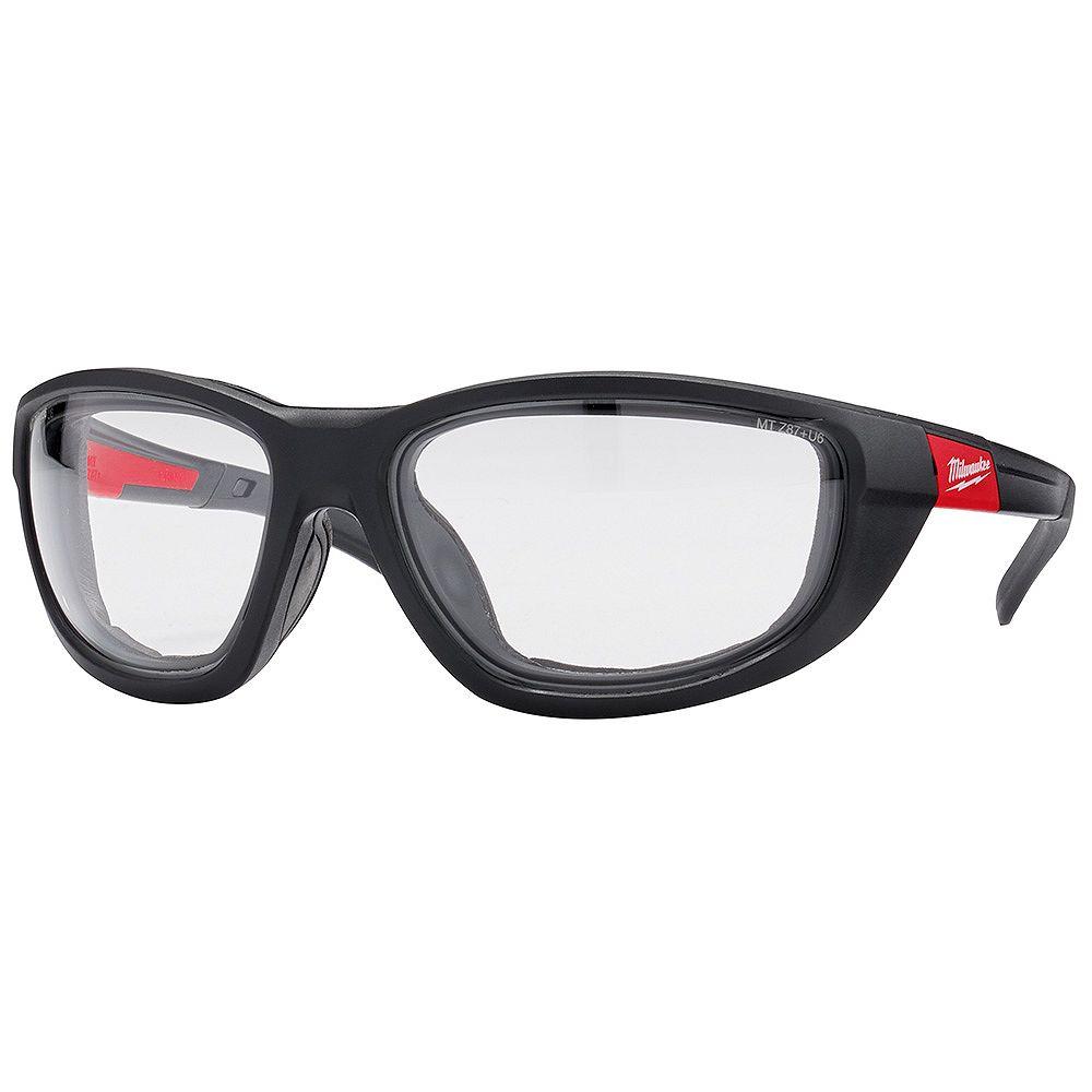 Milwaukee Tool Verre de sécurité haute performance avec lentilles transparentes et joint d'étanchéité