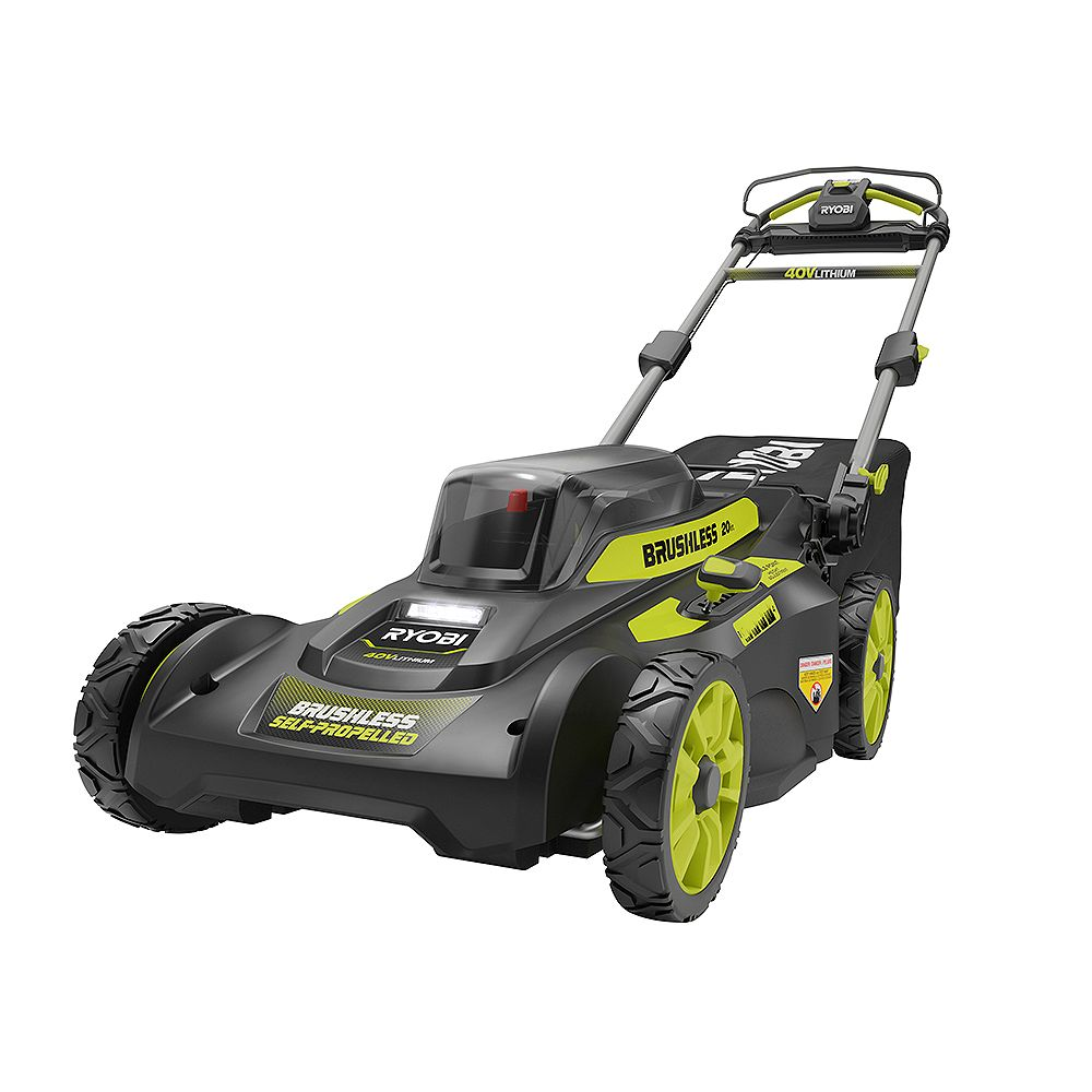 RYOBI 20-inch 40V Brushless Lithium-Ion Cordless Walk Behind Self-Propelled Lawn Mower with 6.0Ah Battery