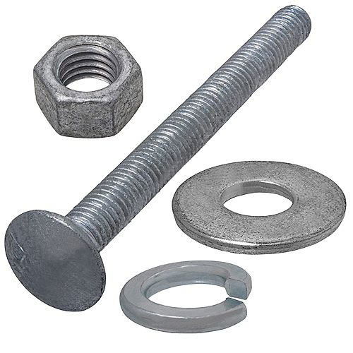 Paulin 3/8-inch x 4-inch Pro Pack Hot Dipped Galvanized Carriage Bolt (5 Sets)
