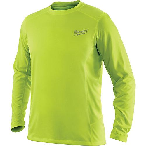 Men's Medium Workskin High Visibility Yellow Long Sleeve Light Weight Performance Shirt