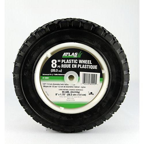 Universal Plastic Wheel - 8 inch x 1 3/4 inch
