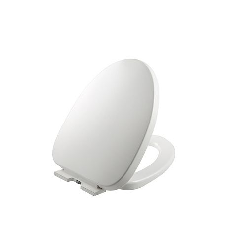 Fast Release and Quiet-Close Elongated Toilet Seat in White