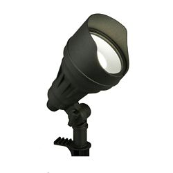 Hampton Bay 17-Watt Millennium Black Adjustable Light Color Outdoor Integrated LED Landscape Flood Light