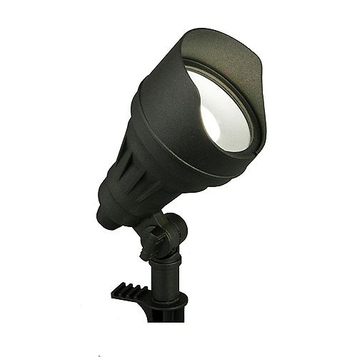 17-Watt Millennium Black Adjustable Light Color Outdoor Integrated LED Landscape Flood Light