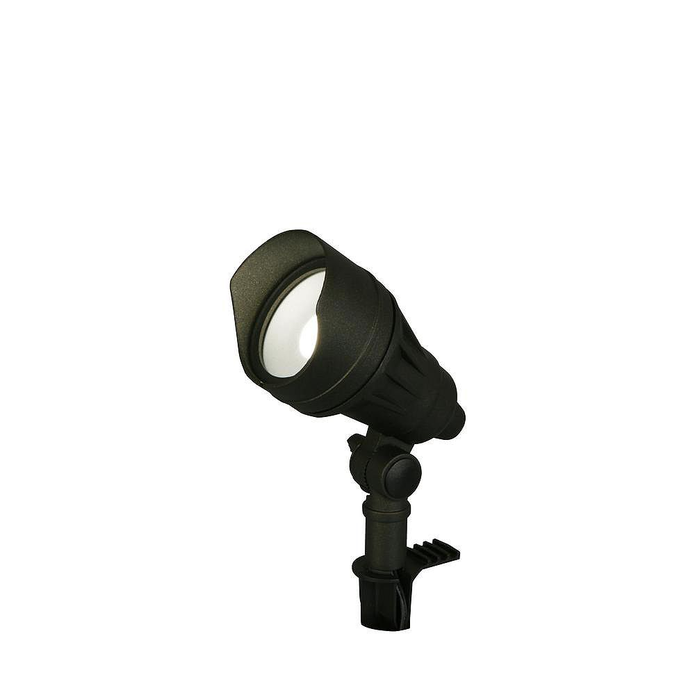 Hampton Bay 50W Equivalent Black Outdoor Integrated LED Spot Light