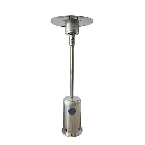 87-inch Outdoor Propane Patio Heater in Stainless Steel Finish