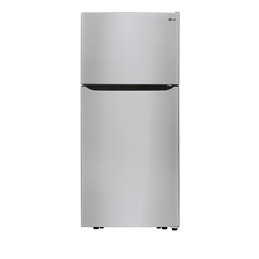 Lg Electronics 30 Inch W 20 Cu Ft Top Freezer Refrigerator In Stainless Steel The Home Depot Canada