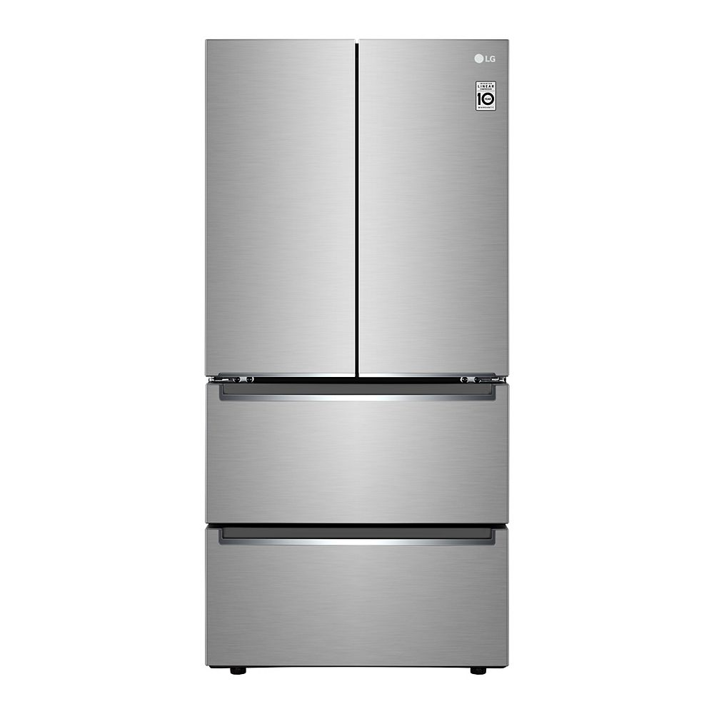 LG LRMNC1803S 33-inch W 19 cu. Ft. French Door Refrigerator with 2 Freezer Drawers in Smudge Resistant Stainless Steel