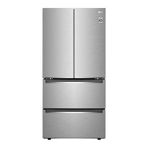 33-inch W 19 cu. Ft. French Door Refrigerator with 2 Freezer Drawers in Smudge Resistant Stainless Steel, counter-depth - ENERGY STAR®