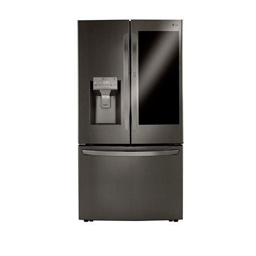 36-inch W 24 cu. ft. French Door Refrigerator with InstaView Door-in-Door® and Wi-Fi in Smudge Resistant Black Stainless Steel - ENERGY STAR®