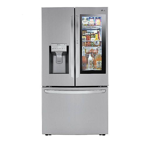 36-inch W 24 cu. ft. French Door Refrigerator with InstaView Door-in-Door and Wi-Fi in Smudge Resistant Stainless Steel - ENERGY STAR®