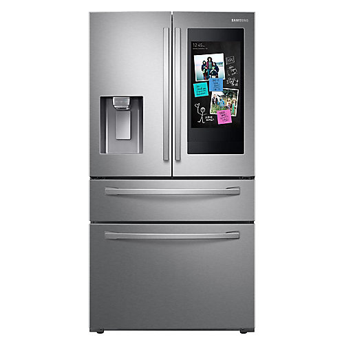 35.8-inch 27.7 cu. ft. French Door Smart Refrigerator in Stainless Steel