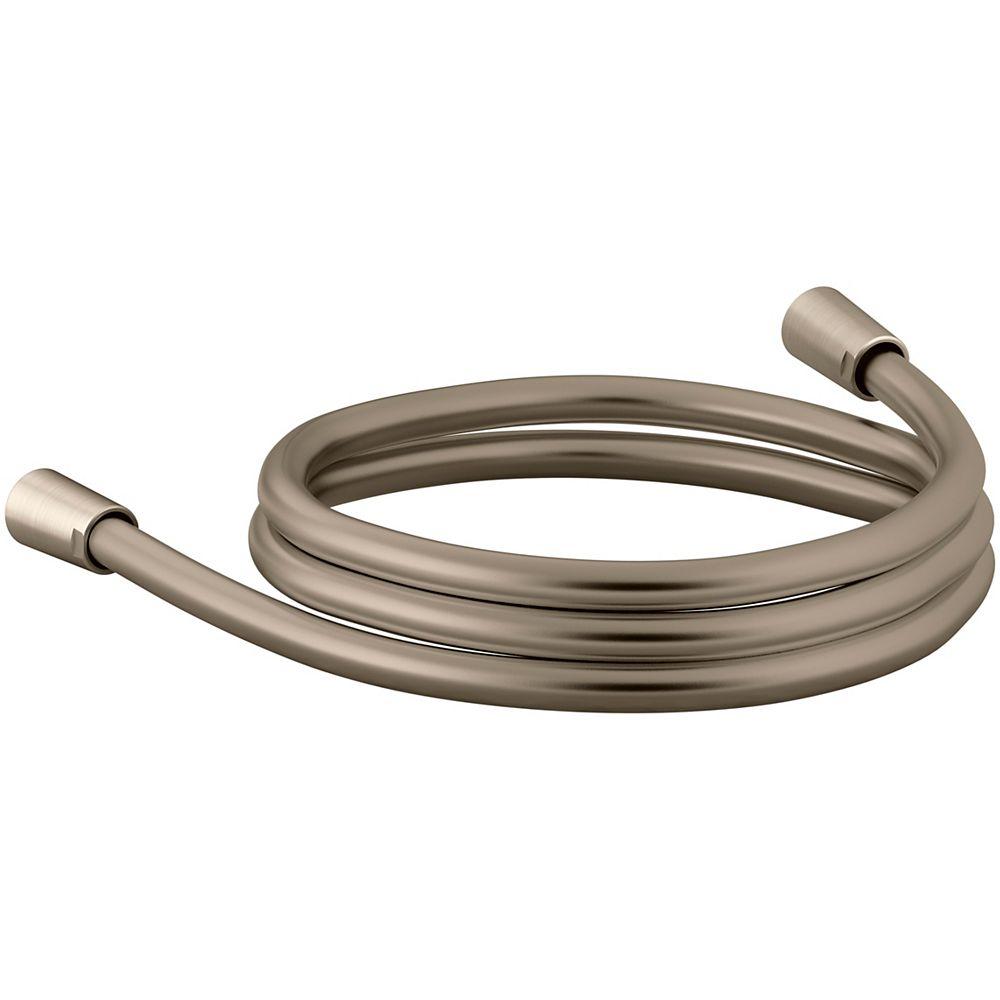 """KOHLER 60"""" smooth shower hose in Vibrant Brushed Bronze"""