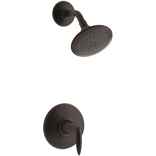 Rite-Temp pressure-balancing trim set, with 2.5 gpm showerhead in Oil-Rubbed Bronze