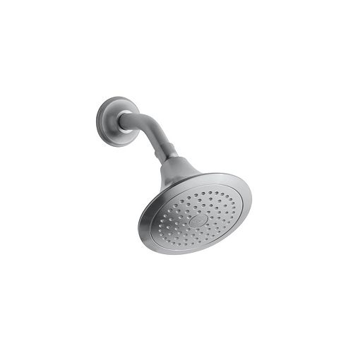 Forte Forte 2.5 gpm single-function showerhead in Brushed Chrome