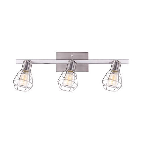 Canarm Wren 3-Light Brushed Nickel Track Light