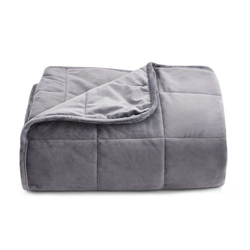 Mink to Mink 15lb. Weighted Blanket in Grey