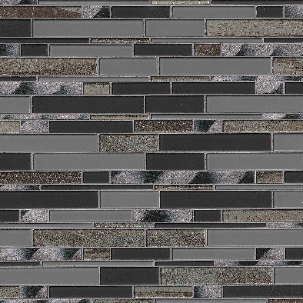 MSI Stone ULC Metallica Interlocking 12-inch x 12-inch x 6 mm Glass Metal Mesh-Mounted Mosaic Tile