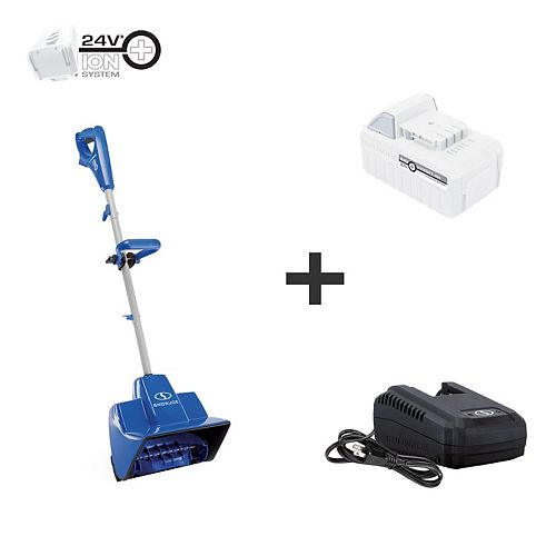 11-inch 24V Cordless Snow Shovel Kit with 5.0 Ah Battery + Charger