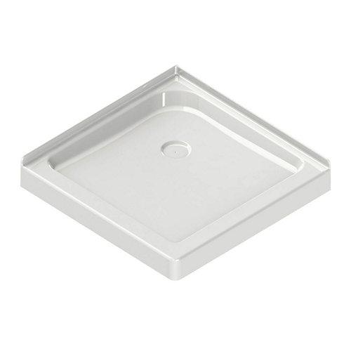 Corner Square Base 32-inch x 32-inch x 3-inch Centre Drain in White