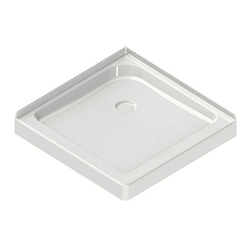 MAAX Corner Square Base 36-inch x 36-inch x 3-inch Centre Drain in White