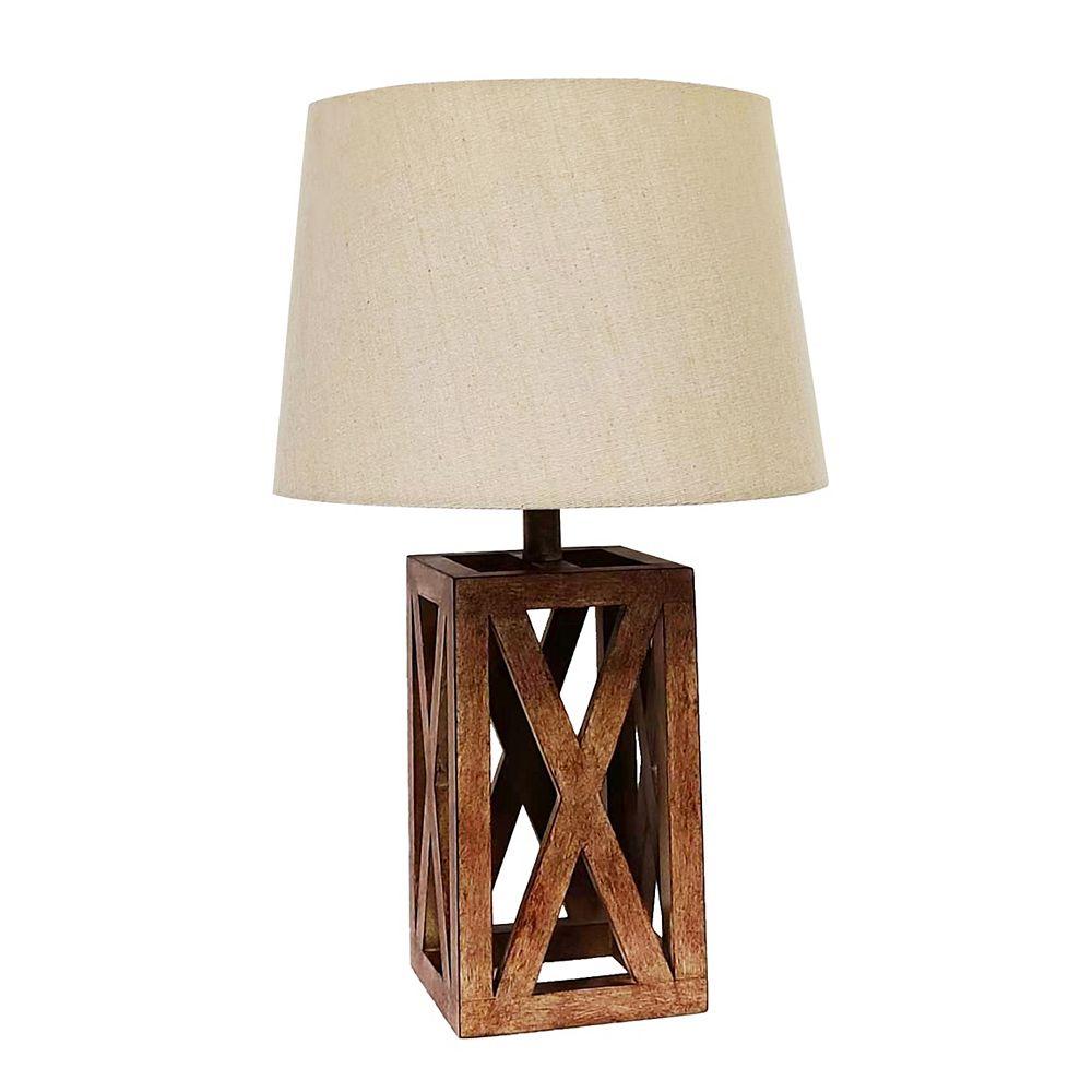 L2 Lighting Logan Wood Table Lamp