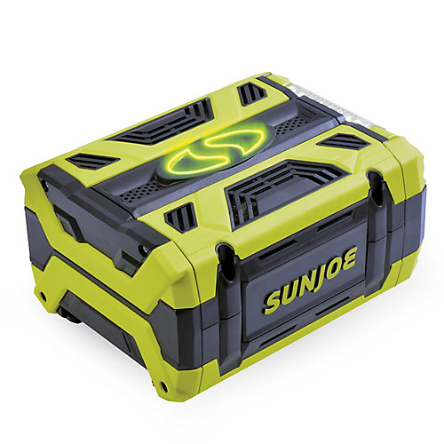 Sun Joe 100V 5 Ah Lithium-iON Battery with Dual USB Ports