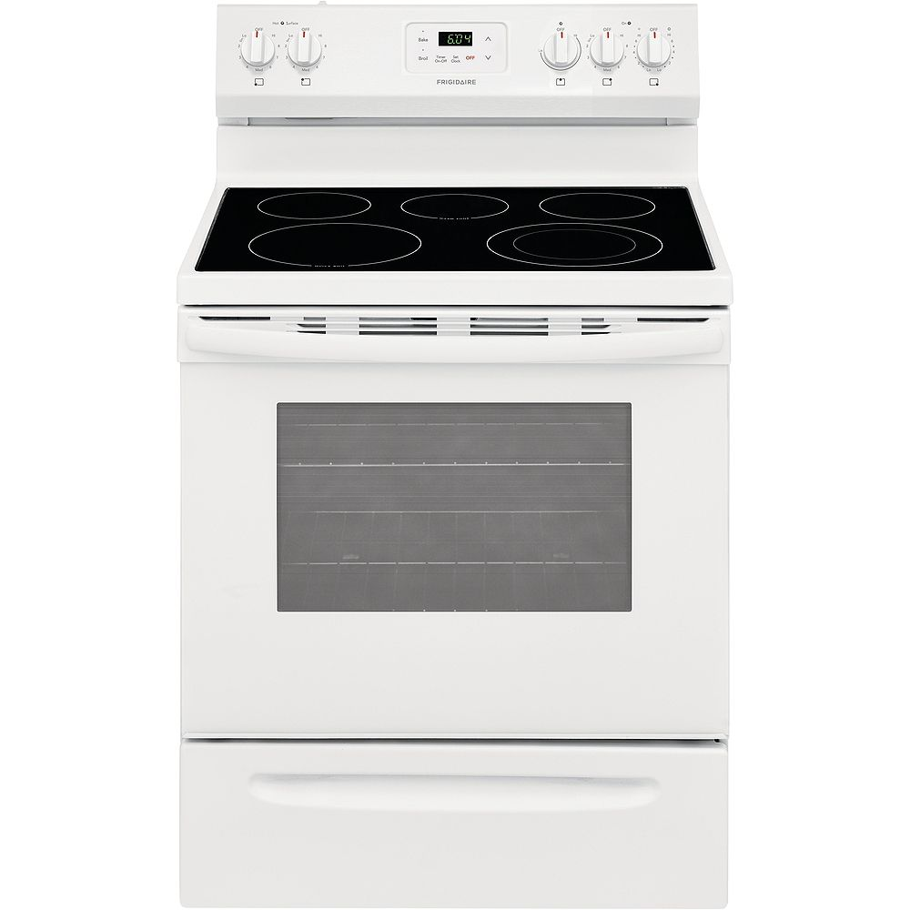 Frigidaire 30-inch 4.8 cu. ft. Freestanding Electric Range with Quick Boil in White