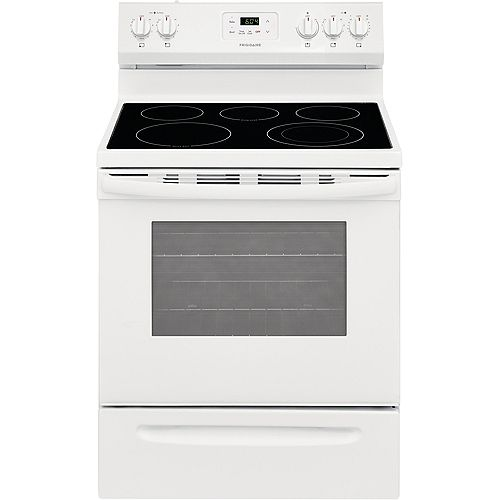 30-inch 4.8 cu. ft. Freestanding Electric Range with Quick Boil in White