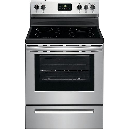 30-inch 4.8 cu. ft. Freestanding Electric Range with Quick Boil in Stainless Steel