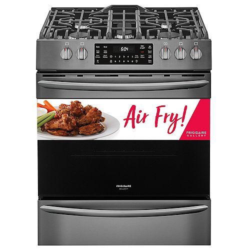 30-inch 5.6 cu. ft. Gas Range with Self-Cleaning True Convection in Smudge-Proof Black Stainless