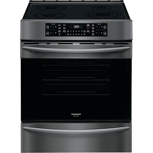 30-inch 5.4 cu. ft. Freestanding Induction Range with Air Fry in Smudge-Proof Black Stainless