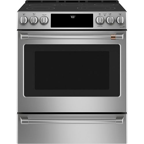 30-inch W Slide-in Single Oven Convection Range with Warming Drawer in Stainless Steel