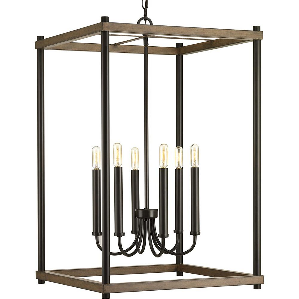 Progress Lighting Lampe suspendue Fontayne à six lumières