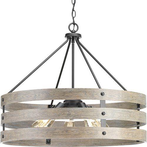Lampe suspendue Gulliver à cinq lumières, gris