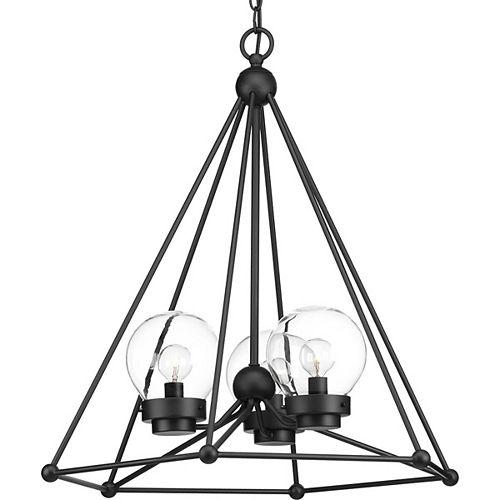 Progress Lighting Spatial Three-Light Chandelier