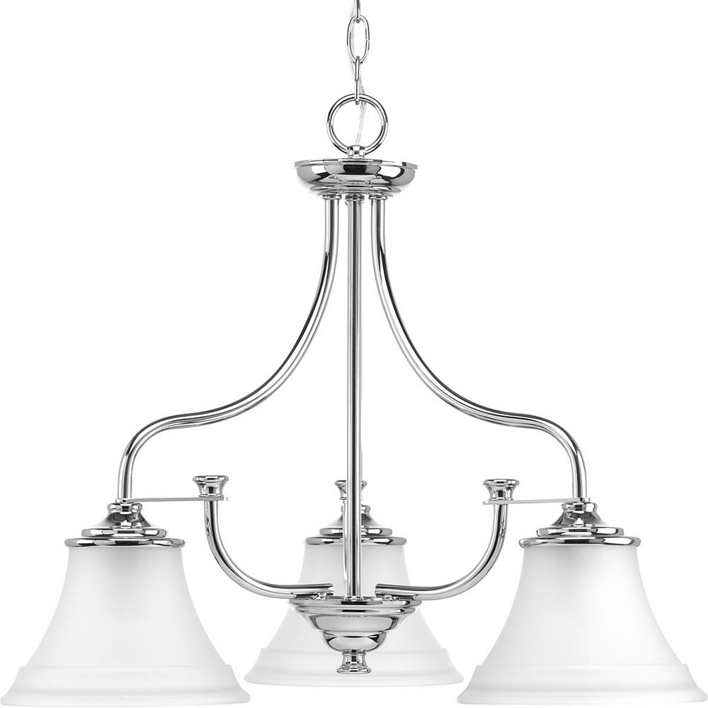 Progress Lighting Tinsley Three-Light Chandelier, chrome