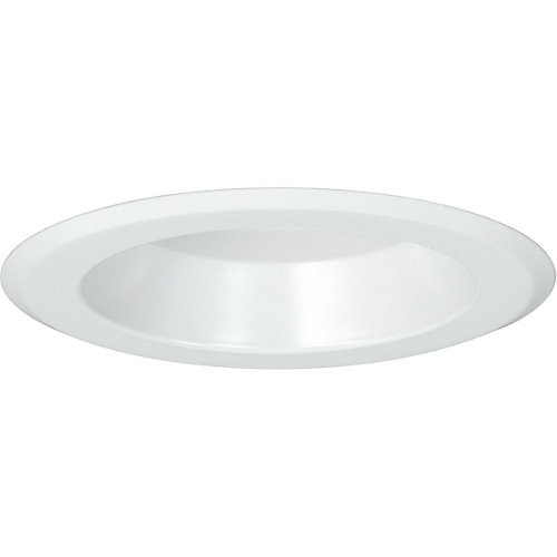 5 inch Recessed LED Shower Trim for P851-ICAT, White Finish